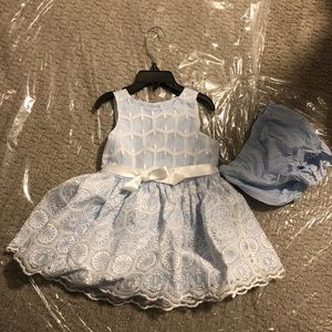Pippa & Julie Light Blue white lace 18 month